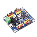 Servo Motor Controller Driver Board 16 channels USB communication UART TTL PC software APP Serial port and Bluetooth communication applied to Servo Motor for RC Car Robot Helicopter Airplane Model