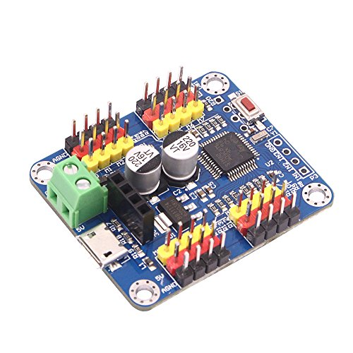 Price comparison product image Servo Motor Controller Driver Board 16 channels USB communication UART TTL PC software APP Serial port and Bluetooth communication applied to Servo Motor for RC Car Robot Helicopter Airplane Model