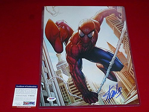 Autographed Stan Lee Spiderman Marvel Icon Hall Of Fame Autographed PSA/DNA 11x14 Photo Proof