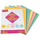 Staples Pastels Colored Copy Paper, Assorted, 8.5 x
