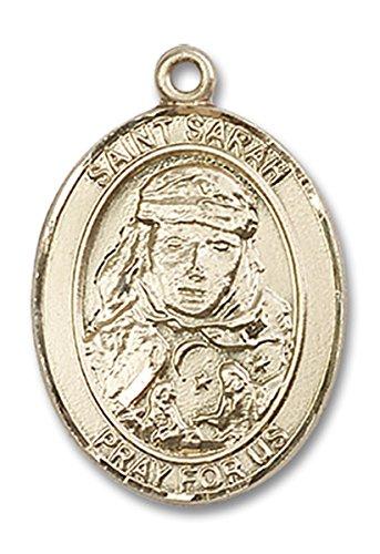 14 Karat Gold Saint Sarah Medal Pendant, 1 Inch