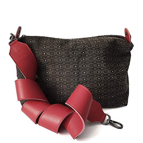 Borsa tela e pelle donna: Amazon.it: Handmade