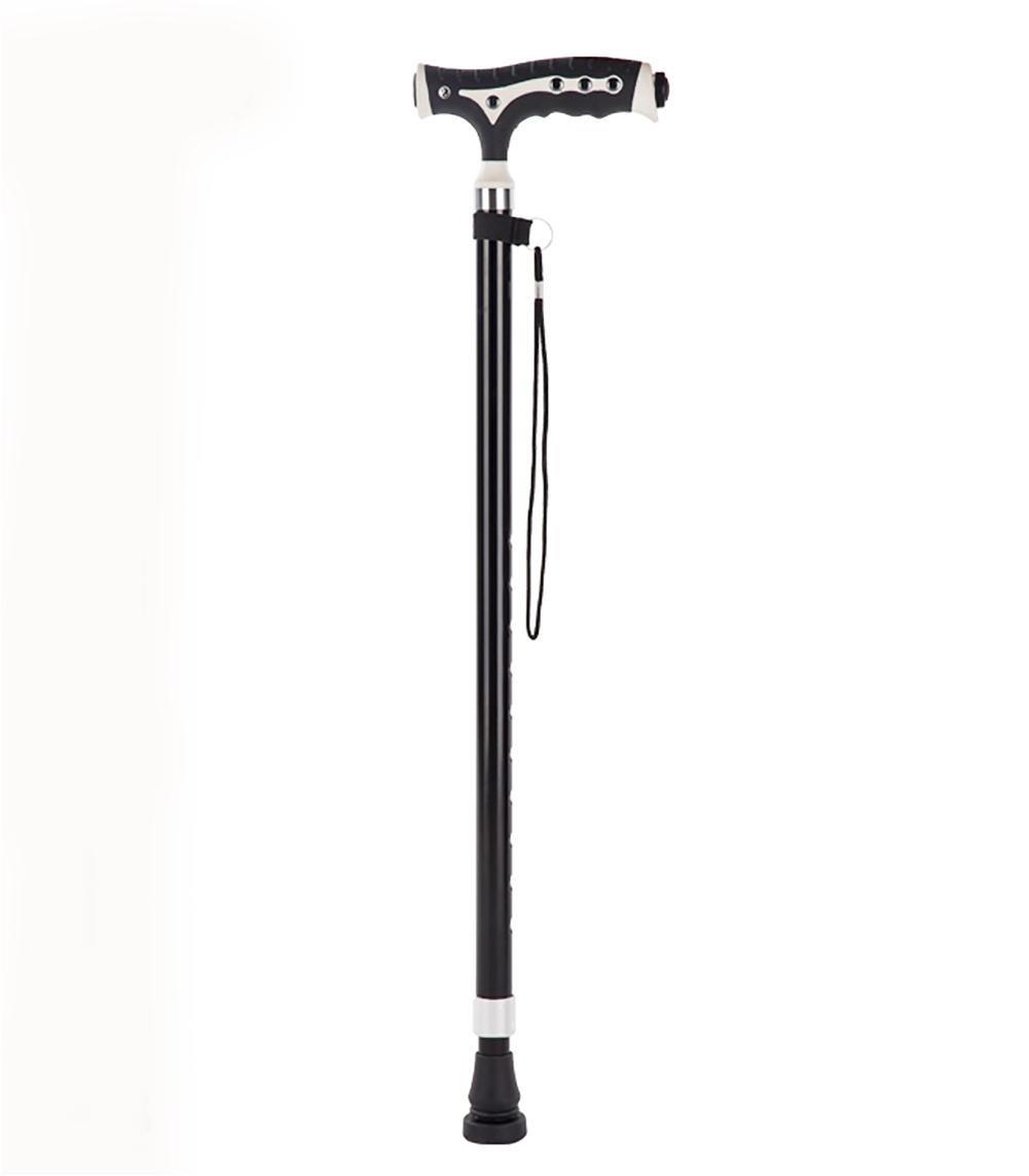 G&M Extendable Walking Stick Lightweight Height Adjustable Walking Stick 68-89 cm Black , 2 by crutch (Image #1)