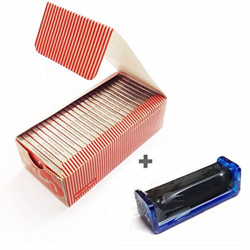 1 Box Moon 50 Booklets Red Cigarette Tobacco Smoking Rolling Papers 2500 Leaves with roller -