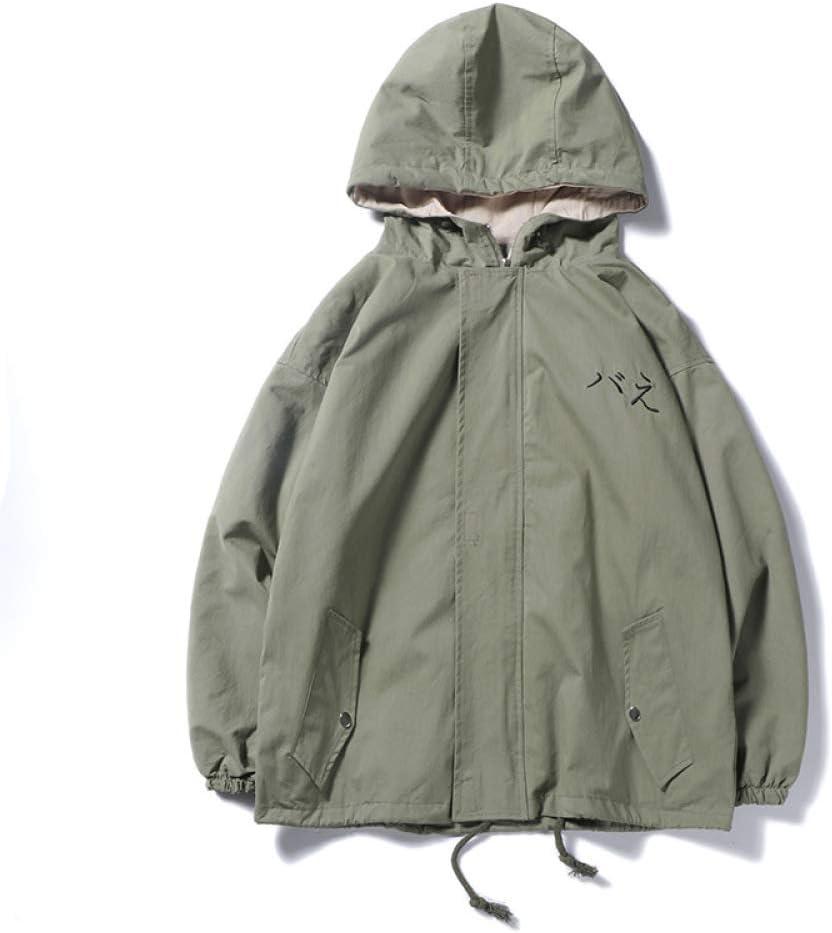 Q-QQ9 Men\'s Jacket/Loose Harajuku BF Wind Large Size Men\'s Baseball Uniform Jacket/Youth Popular Wind Men\'s Jacket/Fashion Wild Windbreaker Cardigan Tide Mmm Green
