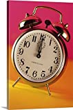Great BIG Canvas Gallery-Wrapped Canvas entitled Alarm clock about to strike midnight