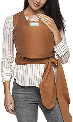 11ad91db2f6 Amazon.com   Moby Evolution Baby Wrap Carrier (Caramel) - Toddler ...