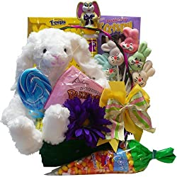 Art of Appreciation Gift Baskets Everybunny's Favorite Easter Gift Basket with Plush Bunny Rabbit
