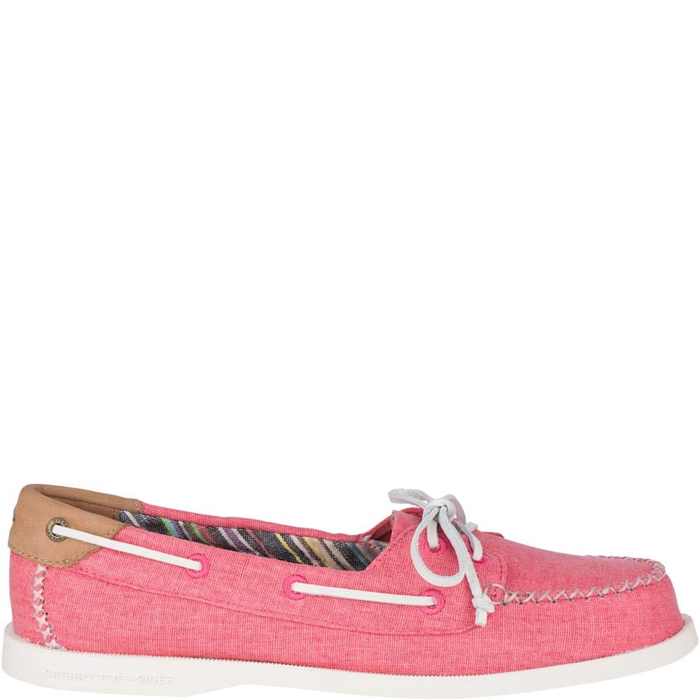 Sperry Top-Sider Authentic Original Venice Linen Boat Shoe Women 6 Coral