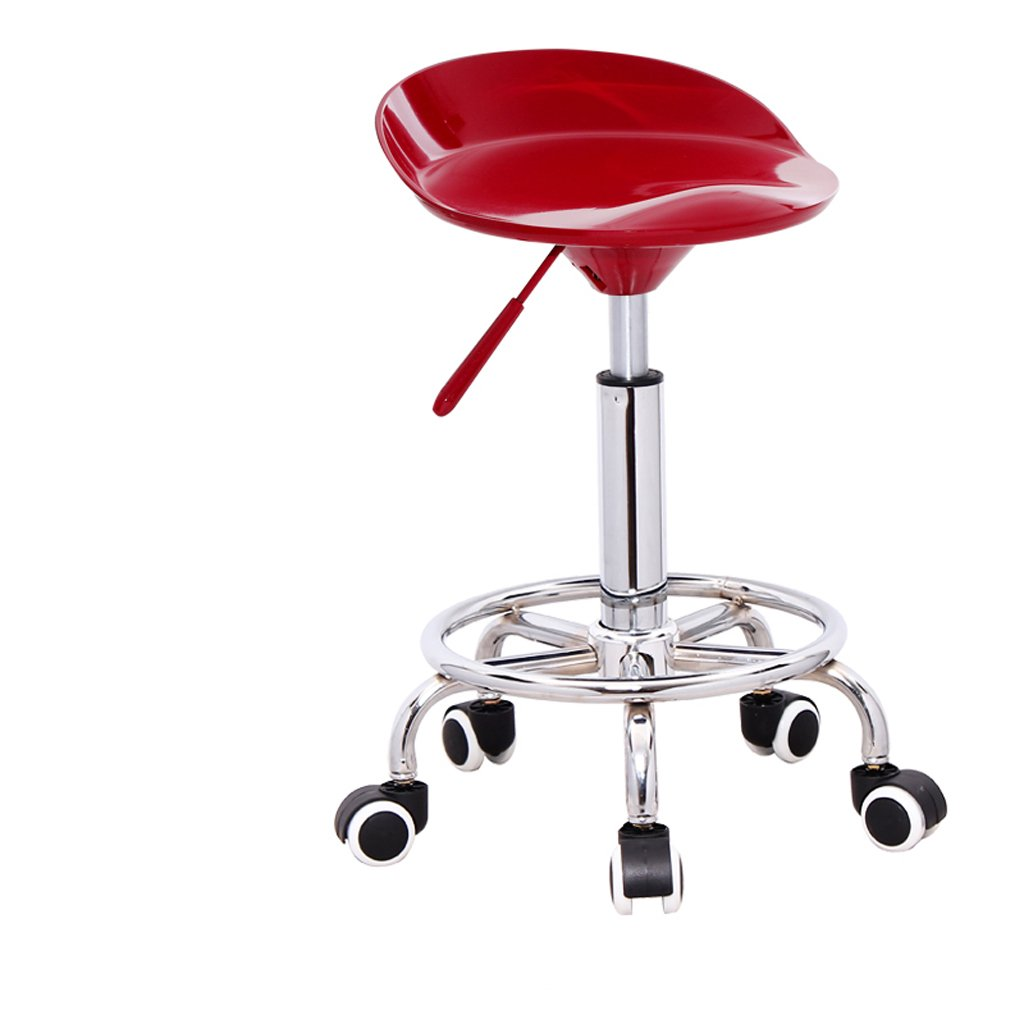 Red Ghjkl Bar Stool Fashion bar Stool Lift bar Chair Simple Home bar Stool Front Stool -by TIANTA (color   RED)