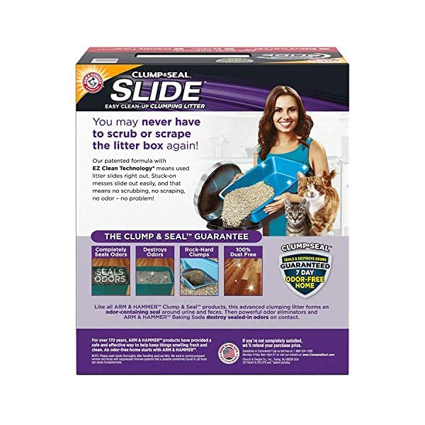 Arm & Hammer Platinum Slide Easy Clean-Up Clumping Cat Litter, Multi-Cat, 37 lbs 2