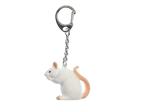Miniblings Rata Llavero Llavero Cadena ratón Blanco ...