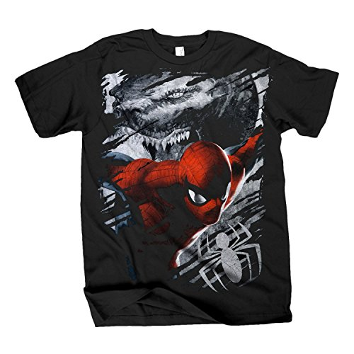 The Amazing Spider-Man Lizard Torn Up Black T-Shirt
