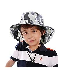 MioCloth Outdoor Kids Camo Bucket Big Brim Hat UPF50+ UV Ray Sun Protection Boys Sun Hat