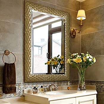 Amazon.com: Large Rectangular Wall Mirror with Gold ...