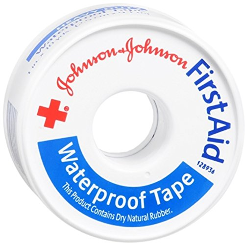 Johnson & Johnson First Aid Waterproof Tape (1-Inch x 10-Yards) (Pack of ()
