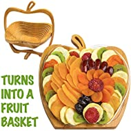 Dried Fruit Gift Basket – Healthy Gourmet Snack Box - Holiday Food Tray - Variety Snacks - Great for Birthday, Sympathy, Father's Day, Christmas, or as a Corporate Tray - Bonnie & Pop