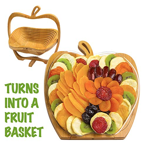 Chocolate Get Well Fruit Basket - Dried Fruit Gift Basket - Healthy Gourmet Snack Box - Holiday Food Tray - Variety Snacks - Great for Birthday, Sympathy, Father's Day, Christmas, or as a Corporate Tray - Bonnie & Pop