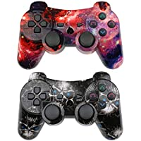 CHENGDAO PS3 Controller Wireless 2 Pack Double Shock...