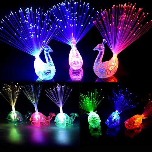 Dsar Party Favor for Kids, 16 Pcs Finger Lights Colorful LED Flashing Toys for Birthday, Wedding Concent, Best Gift