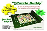 """Puzzle Buddy: Jigsaw Puzzle Roll Up Felt Mat   Securely Store, Transport Unfinished Puzzles, (Includes Box Stand and Glue Kit), Perfect for Grandparents, Grandkids and Puzzle Enthusiasts   Made In the USA - Storage Kit For Puzzles Up To 3000 Pieces, 54"""" x 35"""""""
