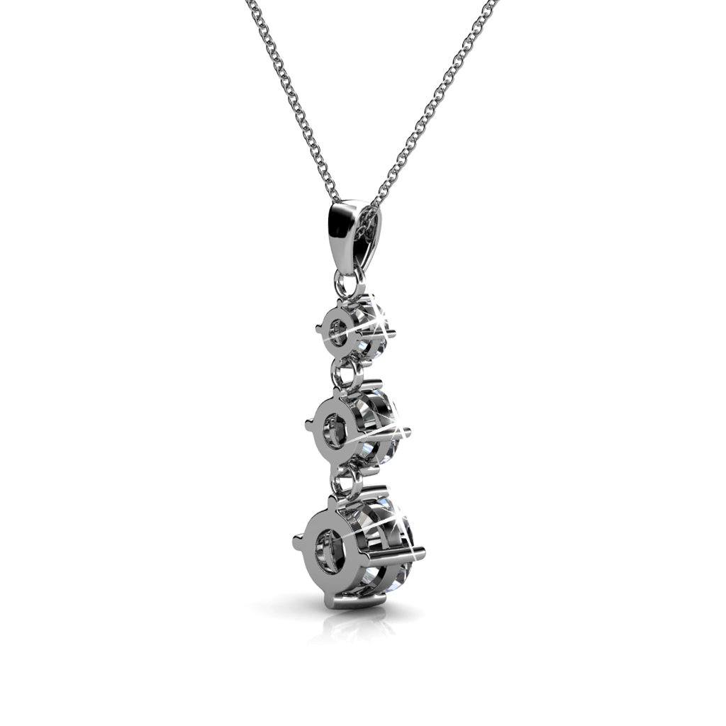 Cate   Chloe Delilah 18k White Gold Chain Pendant Necklace with Swarovski  Crystals c939c28608