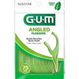 GUM Angled Flossers Fresh Mint, 75 piezas