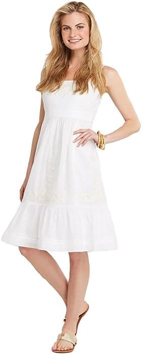 5479242651 Vineyard Vines Women's Beach Embroidered Ruffle Dress, White, 4 at ...
