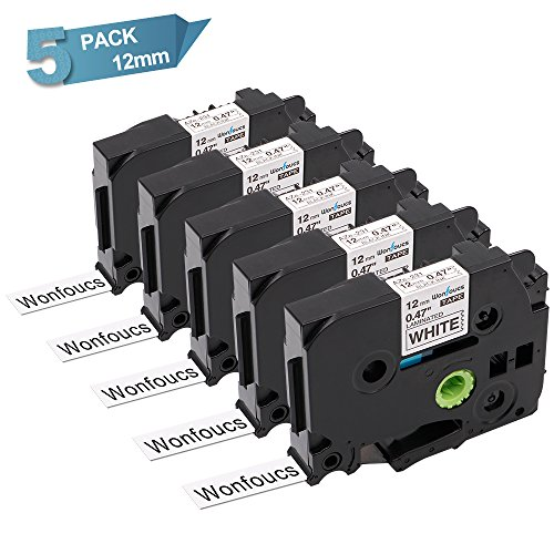 PT-1100SB Printer 2//Pack 9mm Black on Clear Tape for P-touch Model PT1100SB