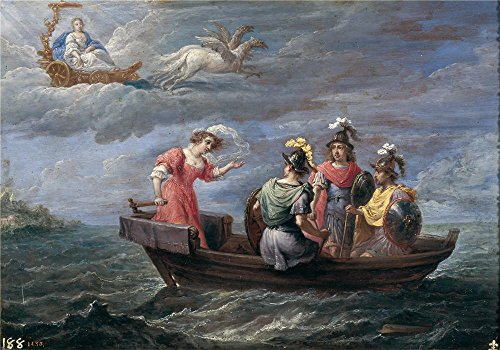 French 6' Length Box (Oil Painting 'Teniers David Reinaldo Huye De Las Islas Afortunadas 1628 30' 8 x 11 inch / 20 x 29 cm , on High Definition HD canvas prints is for Gifts And Dining Room, Gym And Laundry Room Decoration)