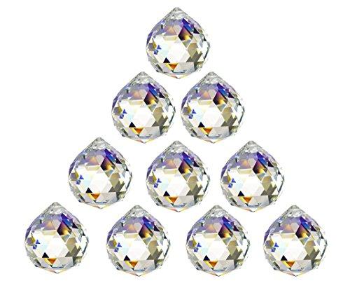 SunAngel 40mm Crystal Ball Prisms Pendant Feng Shui Suncatcher Decorating Hanging Faceted Prism Balls (40MM Prism Balls-10Pack)
