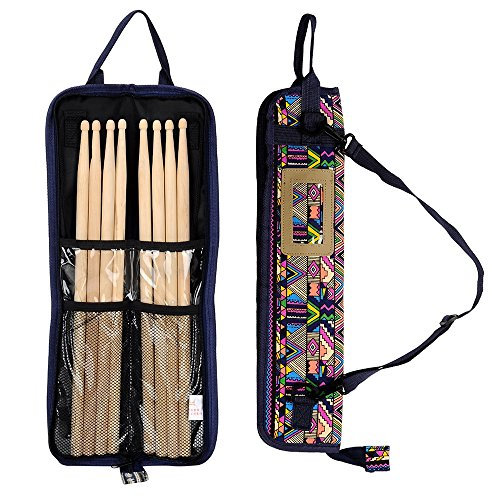 Case Mallet (EaseIcon Exotic Style Percussion Accessories Carrying Bag Drumstick Case Cover Drum stick, Mallets, Brushes & Rods Holder with Adjustable Shoulder Strap (Layer))