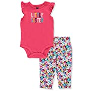 Carter's Baby Girls' 2 Piece Bodysuit Pant Set 9 Months