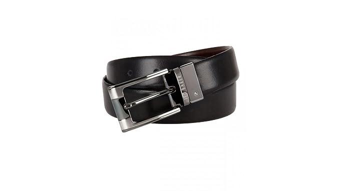 14dbbdebd8b6d Ted Baker Crafti Smart Reversible Leather Belt - Black  Amazon.co.uk   Clothing