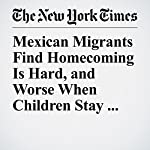 Mexican Migrants Find Homecoming Is Hard, and Worse When Children Stay Behind | Elisabeth Malkin