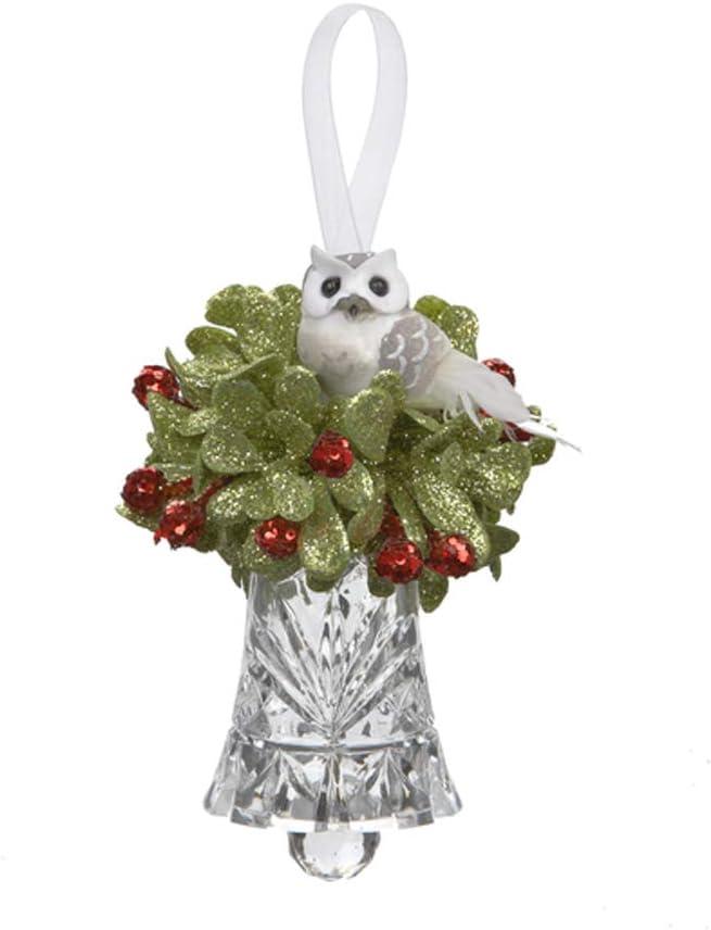 Ganz Teeny Mistletoe Owl Acrylic Bell