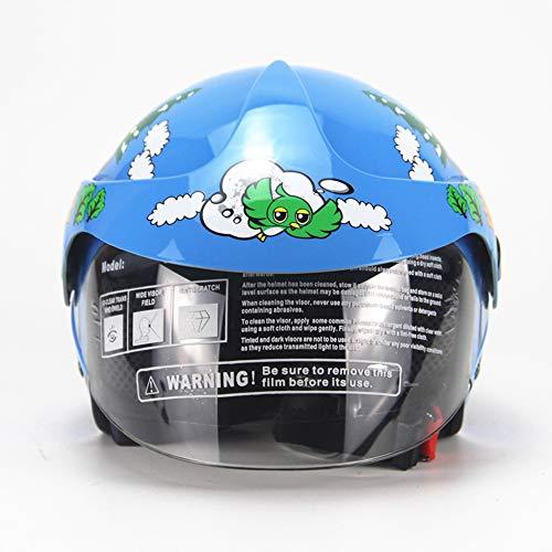 LICIDI Casco De Niños Personalizados Motocicleta Harley Batería Coche Hombres Y Mujeres Bebé Niño Seguridad Casco 48-55 (2-8 Años De Edad),Blue: Amazon.es: ...