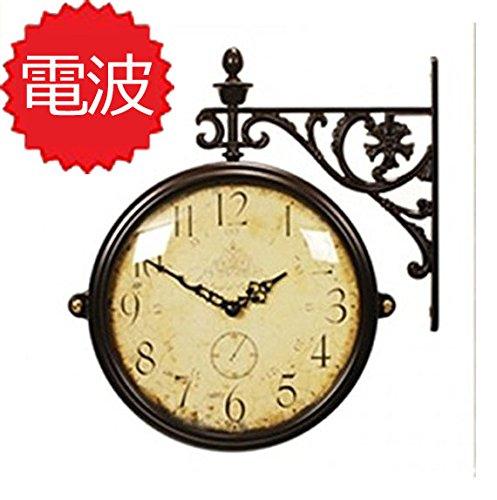 両面電波時計 両面時計 Interior Double Face Wall Clock おしゃれな インテリア 両面壁掛け時計 電波両面時計 M195Br-CR(A) B072239D39