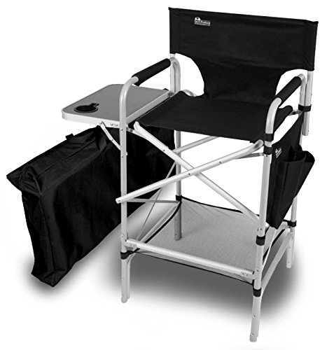 Earth Executive VIP Tall Directors Chair w Side Table and Carry Bag