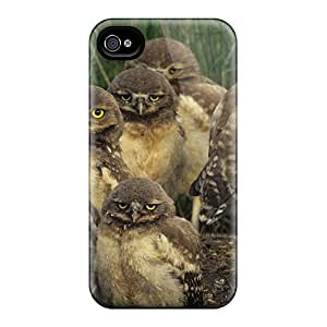 Awesome YhVcQPR2408OpreW AnnetteL Defender Tpu Hard Case Cover For Iphone 4/4s- Burrowing Owl Chicks Saskatchewan Canada