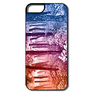 Fun Clear Smooth Rainbow Winter Forest Iphone 5s Shell
