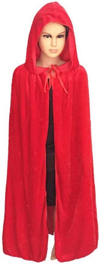 Natale o cosplay per travestimenti di Halloween lunghezza: 80 cm Viola FtingSun Mantello in velluto con cappuccio per bambini