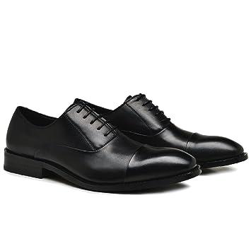 Ocultos Cuero Merryhe Cordones De Para Hombre Tacón Zapatos Con wx8r8nRgtq