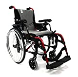 "Karman S-ERGO305 29 lbs Ultra Lightweight Ergonomic Wheelchair S-ERGO305Q16RS Quick Release Wheels, Frame Rose Red, 16""W X 17""D Seat, Factory Adjustable Seat Height & FREE OPCTM Wheelchair Seatbelt!"