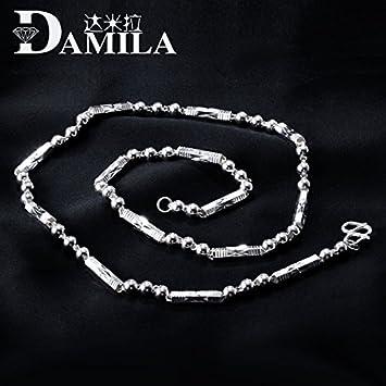 Amazon generic mens prayer beads s925 sterling silver generic mens prayer beads s925 sterling silver necklace pendant chain men korean men jewelry three straight aloadofball Images