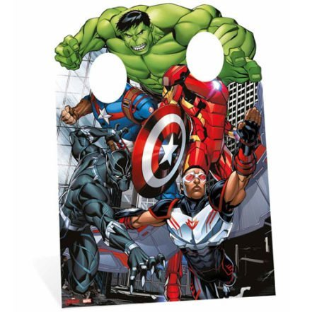 Star Cutouts SC814 Avengers Assemble Child- Size Stand In Cardboard Cut out by Star Cutouts Ltd by Star Cutouts Ltd