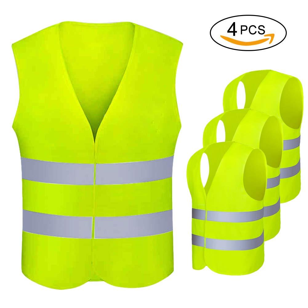Warnweste 360 Grad High Visibility Warnweste Jacke Warnweste f/ür Verkehr Radfahren Fahren und Nachtarbeitskleidung A