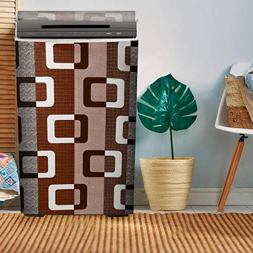 E-Retailer® Combo Set of 1Pc Fridge Top Cover with 6 Pockets, 2Pc Fridge Handle Cover, 1Pc Microwave-Oven Top Cover With 4 Pockets And 1Pc Top Load Washing Machine Cover (Brown, 5 Pc Set) 51IKvC%2BeggL India 2021