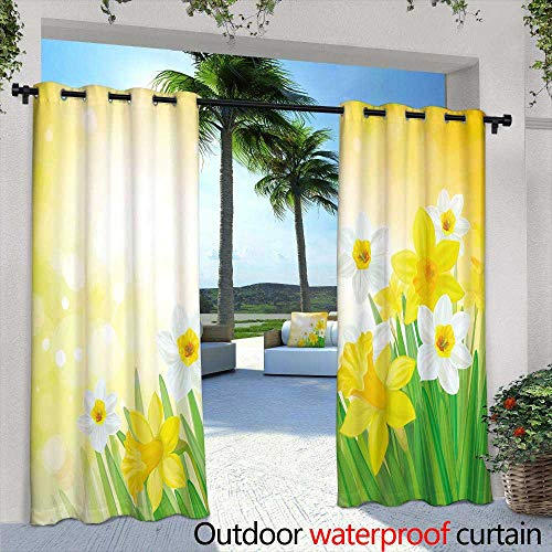 (Lightly Outdoor Privacy Curtain for Pergola,Vector Circuit Board Green Background,W84 x L108 Silver Grommet Top Drape)