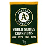 Oakland A's World Series Championship Dynasty Banner - with hanging rod